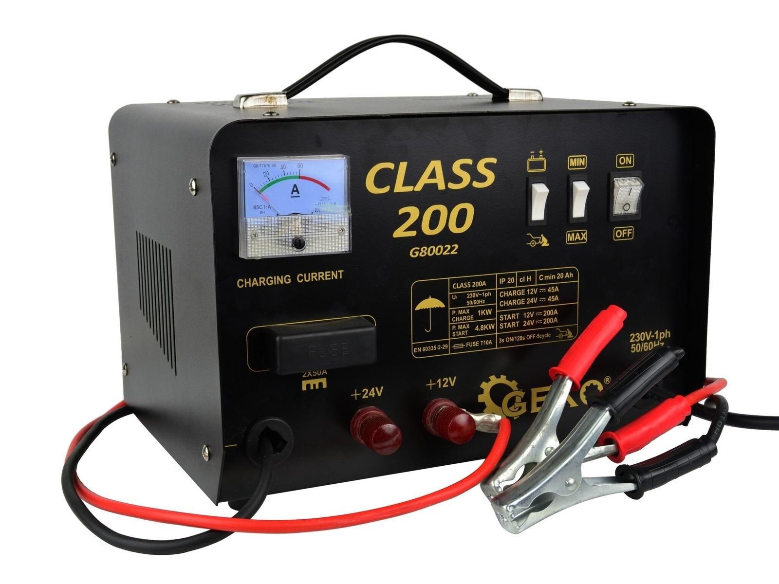 Nabíječka autobaterií a startovací zdroj 12/24V, 200A CLASS 200