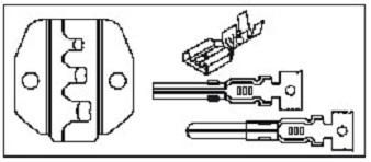 Náhradní čelisti pro krimpování neizolovaných elektrických konektorů 0.5-6 mm - JONNESWAY