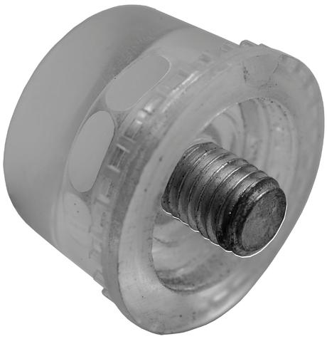 Náhradní úderová hlavice pro paličky BGS 1864 a 1866, průměr 35 mm, gumová - BGS 1869