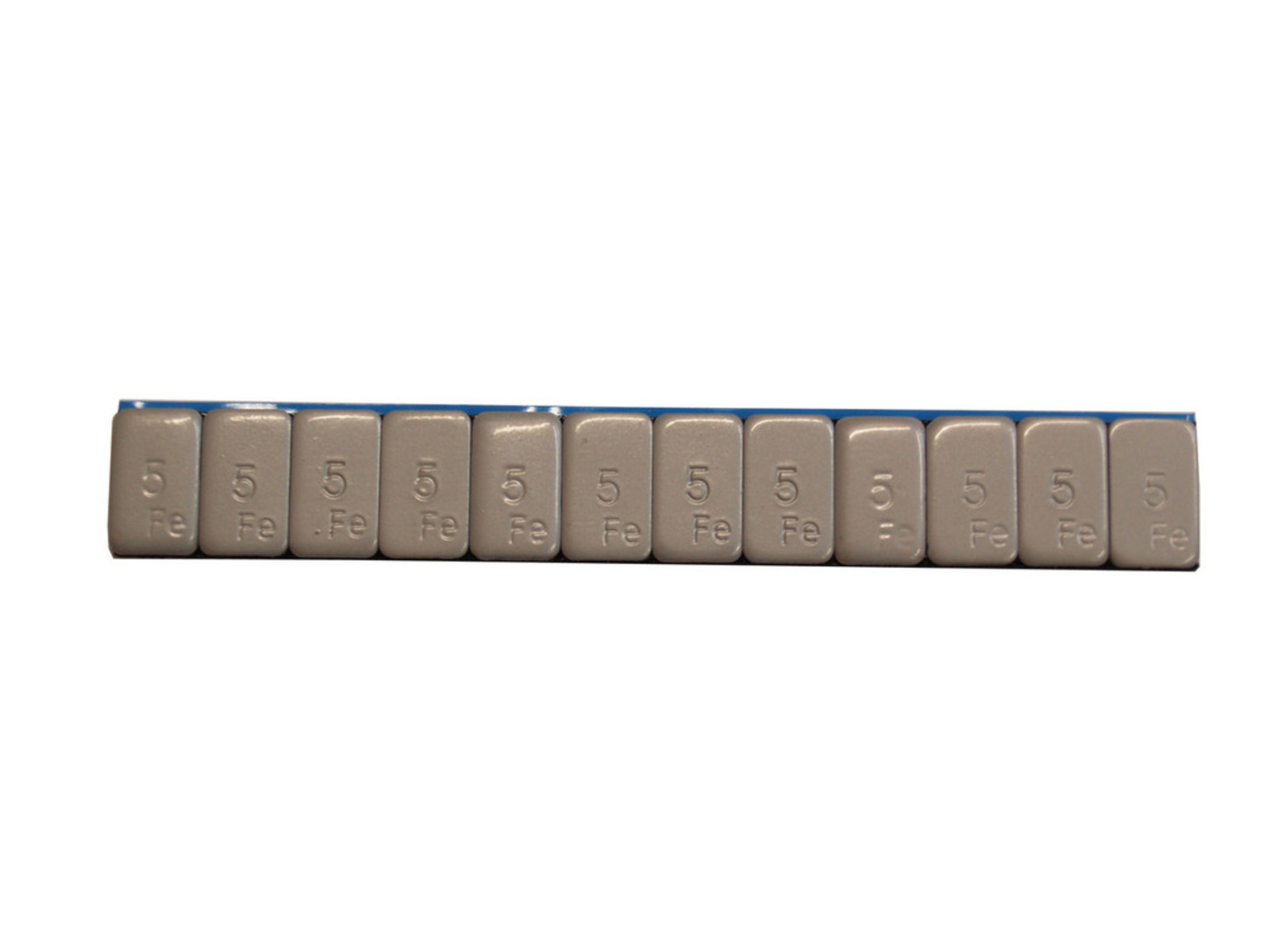 Závaží samolepicí ocelové 5 g, 100 pásek x 12 ks, šedé