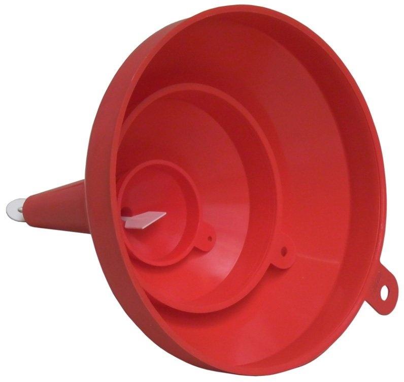 Nálevky - trychtýře bez sítka, průměry 70, 160 a 235 mm, sada 3 kusy