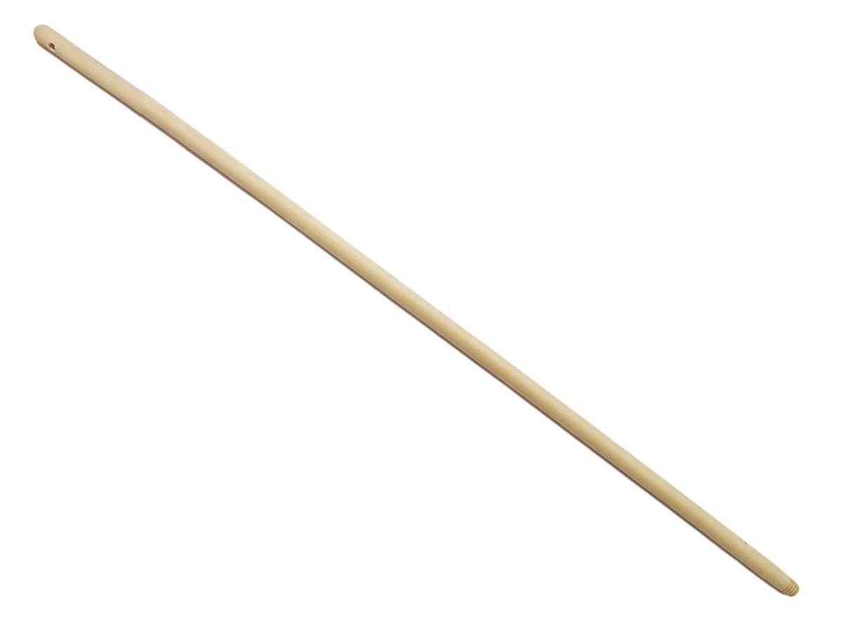 Násada na koště, délka 1200 mm, se závitem, dřevěná