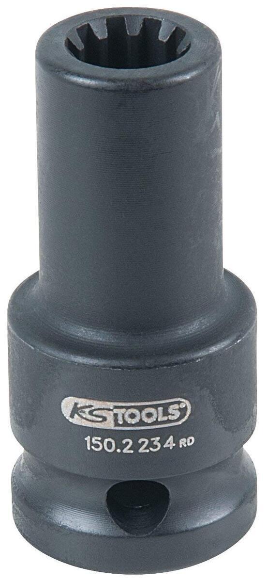 """Nástrčná hlavice, klíč na brzdové třmeny 1/2"""", 11,5 mm, 10hranný - KS TOOLS 150.2234"""