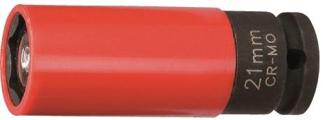 """Nástrčná hlavice úderová s magnetem, 1/2"""", s krytkou na ALU, 21 mm - JONNESWAY S18A4121M"""