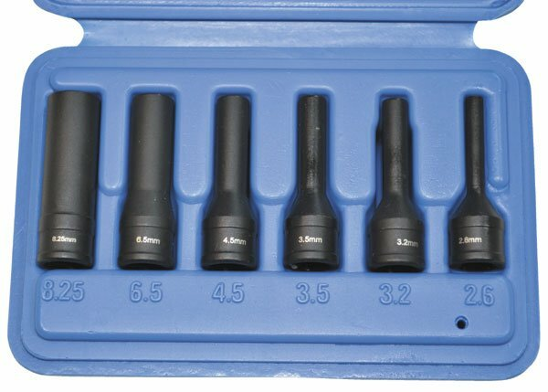 Nástrčné hlavice na poškozené žhavicí svíčky, 2,6 - 8,25 mm, sada 6 ks - ASTA