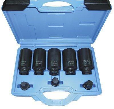 """Nástrčné kované hlavice na matice hnacích hřídelí 1/2"""", 12hran, 30-36 mm, 8 dílů - ASTA"""