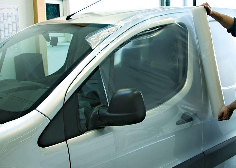 Fólie krycí nouzová, na poškozená okna auta, průsvitná PE, 82 cm x 1,65 m - ProGlass