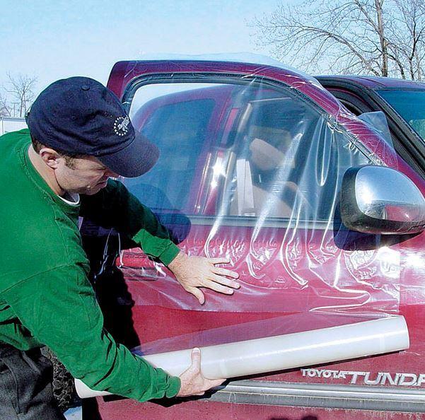 Fólie krycí nouzová, na poškozená okna auta, průsvitná PE, 91 cm x 30 m - ProGlass