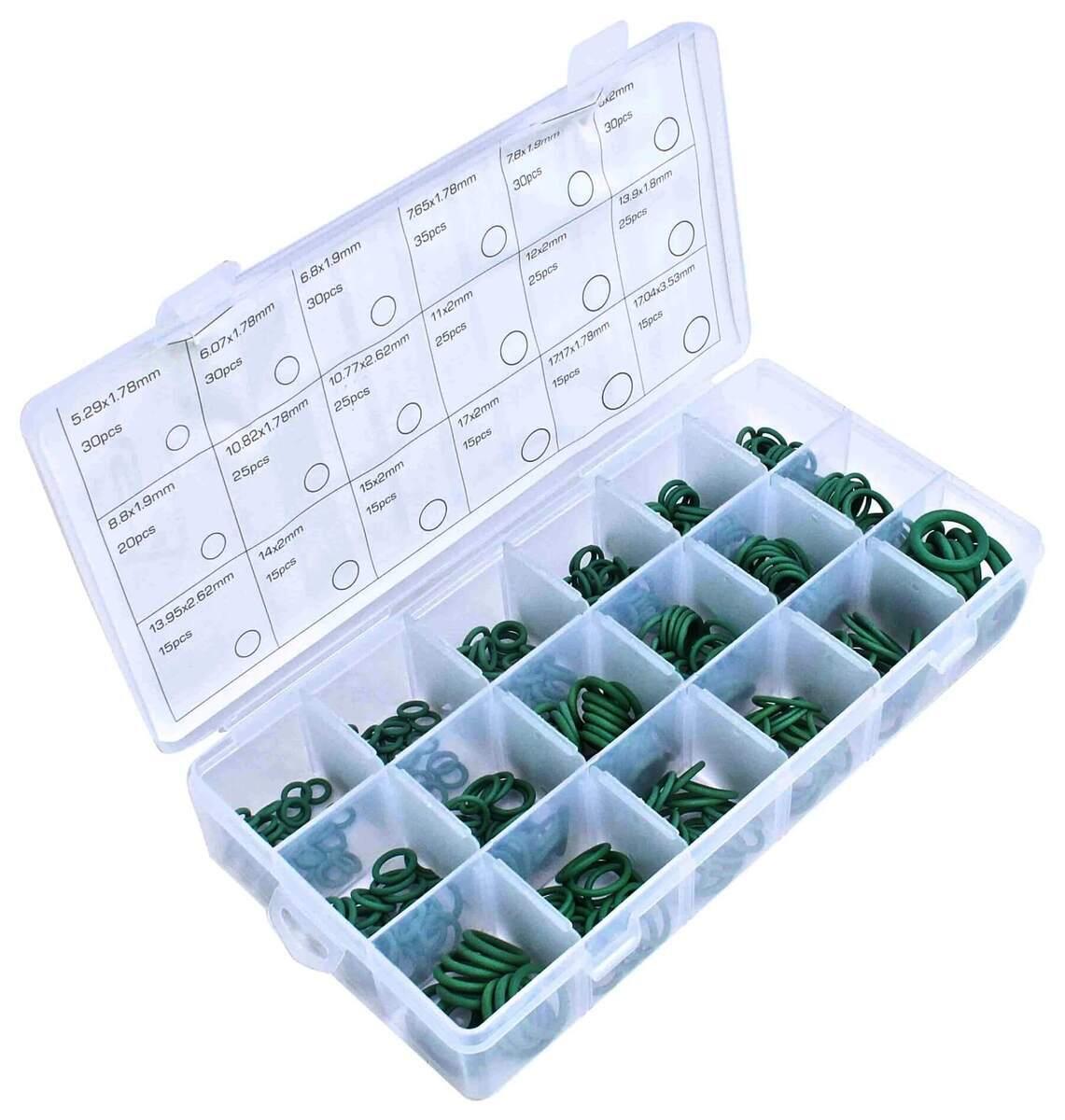 Gumové o-kroužky HNBR, pro spoje klimatizace, různé rozměry, sada 420 ks - ASTA
