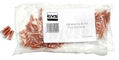 Navařovací vytahovací závitové kolíčky O 5 x 18 GYS 049420 sada 100ks