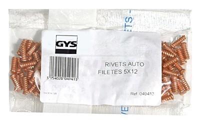 Navařovací vytahovací závitové kolíčky O  5 x 12 GYS 049413 sada 100ks