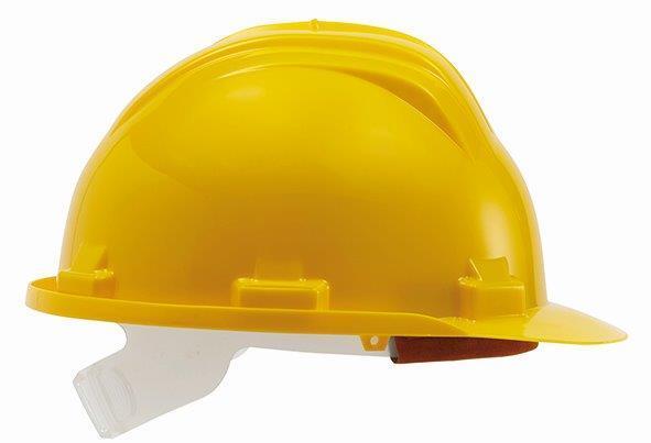 Ochranná přilba univerzální, 52 - 61 cm, žlutá, norma EN397