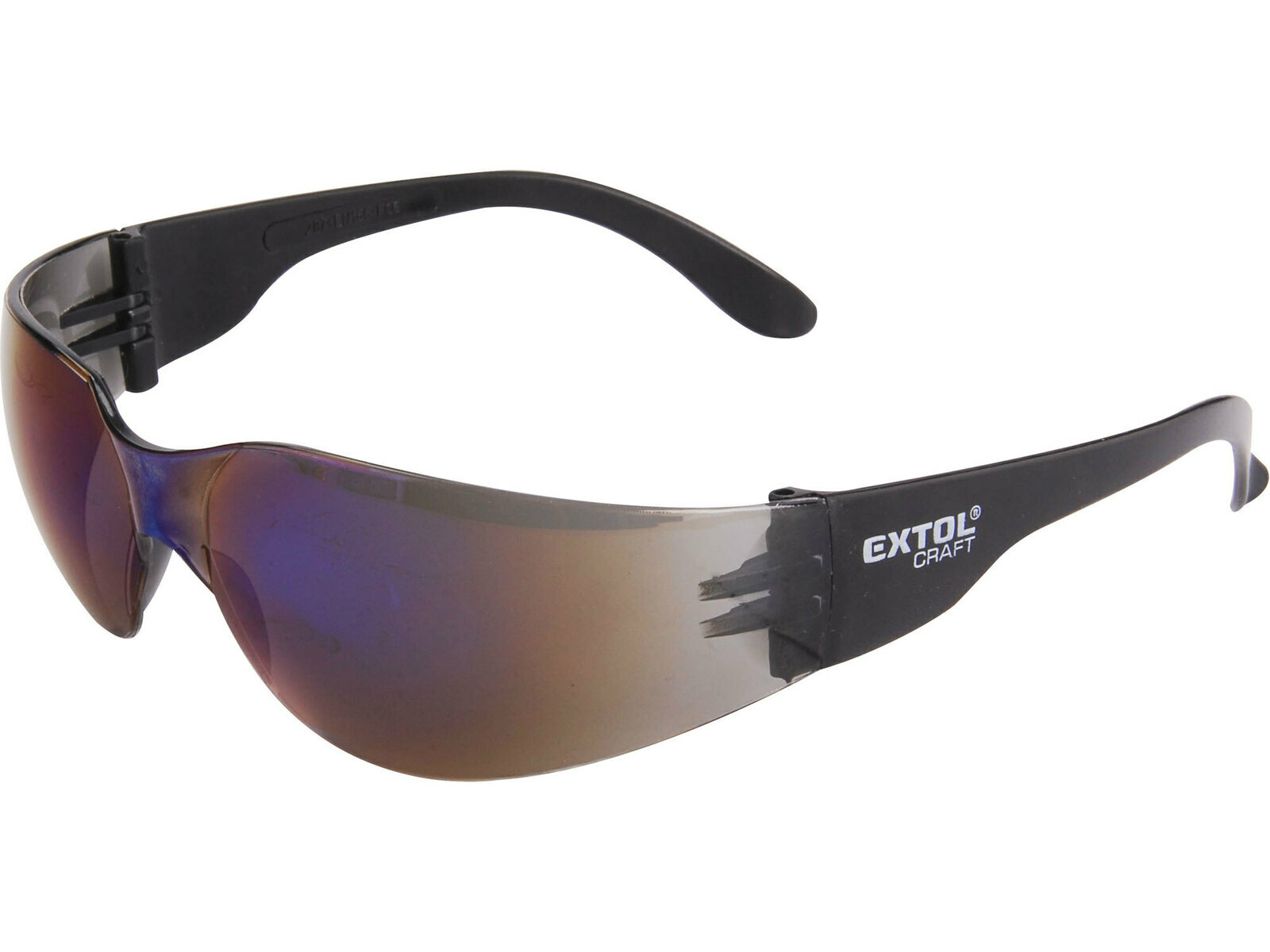 Brýle ochranné modré, EN 166 F - EXTOL CRAFT EX97322