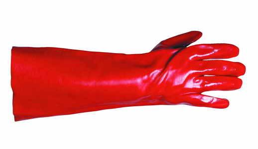 Ochranné rukavice REDSTART, máčené PVC, velikost 10