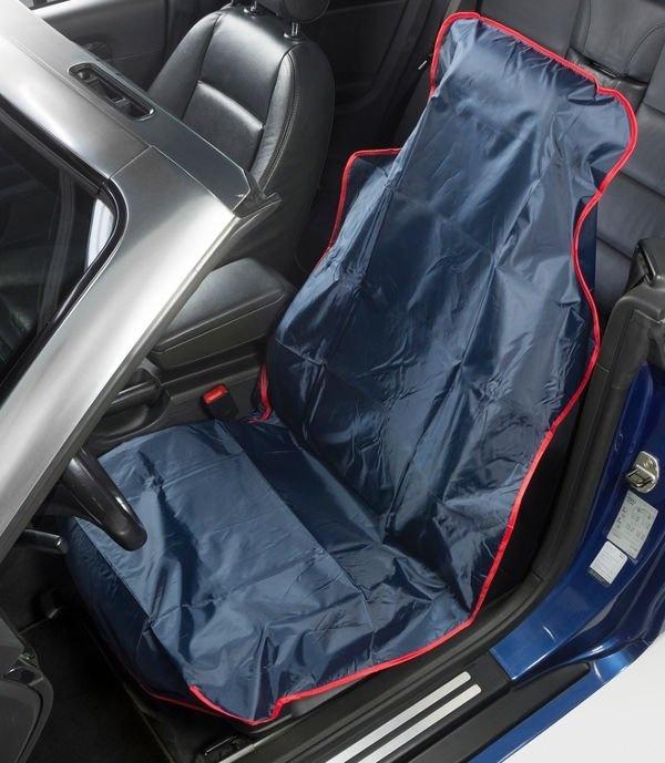 Ochranný pracovní potah na přední sedadlo, 75 x 5 x 133 cm, nylonový, modrý