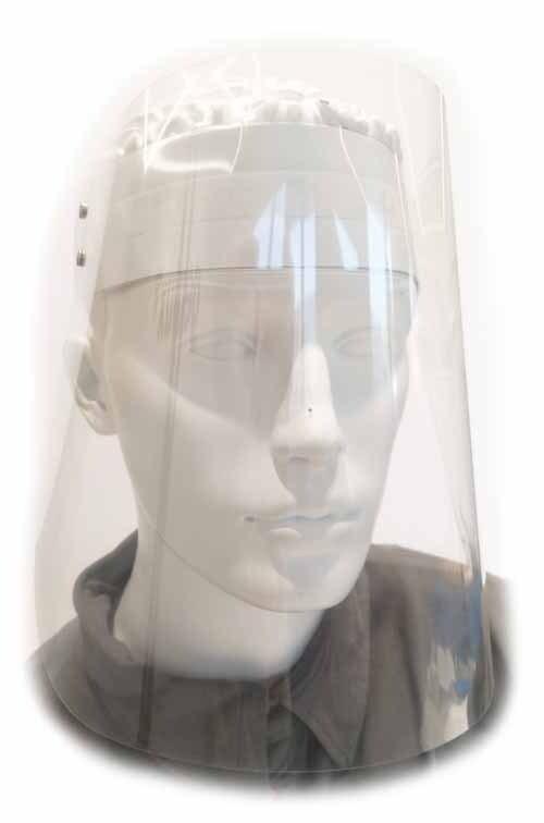 Ochranný štít celoobličejový, plastový
