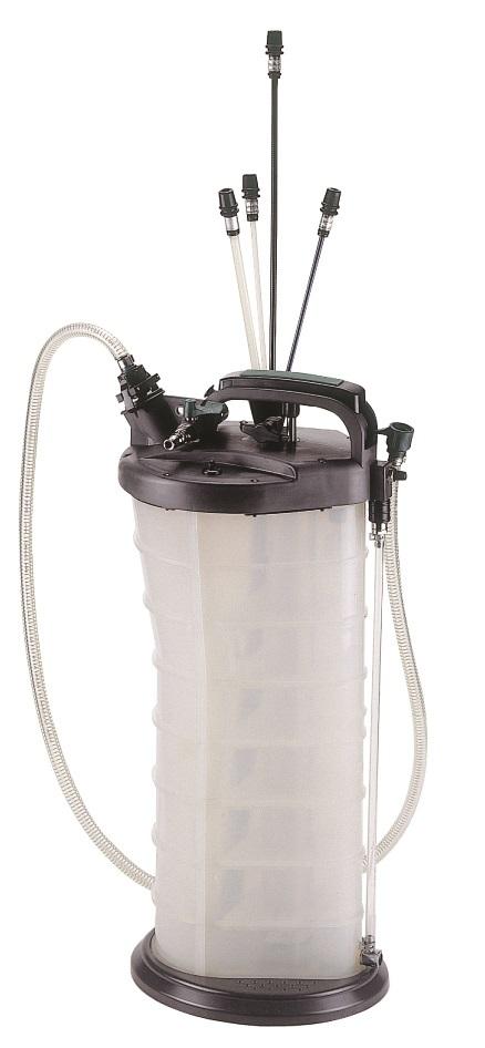 Odsávačka oleje pneumatická / ruční, 9,5 litru - JONNESWAY AE300178