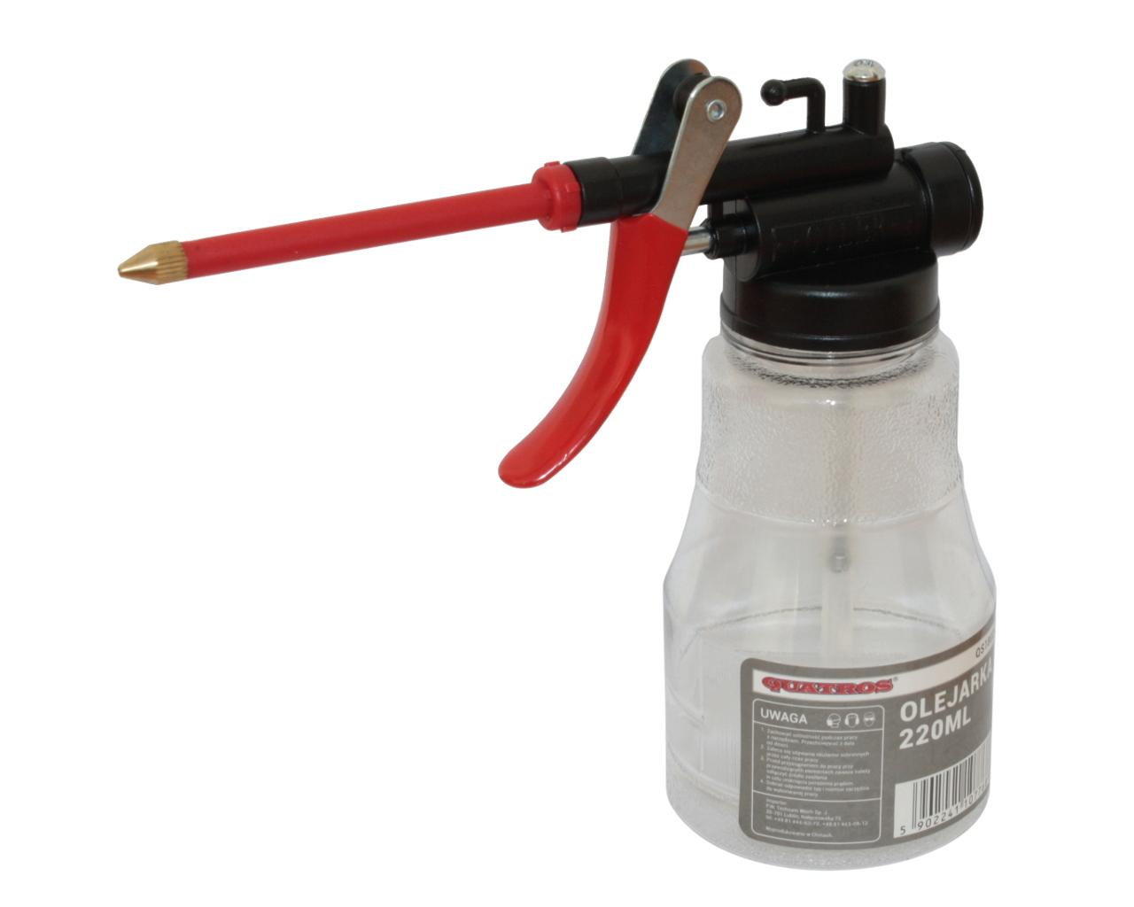 Olejnička 220 ml, hubice 75 mm - QUATROS QS18022