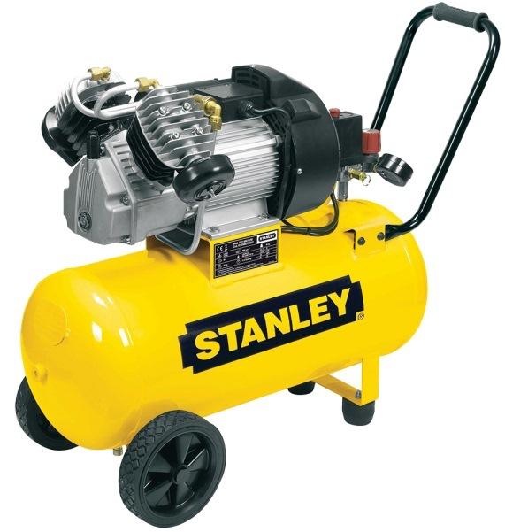 Olejový vzduchový kompresor dvouválcový, velký výkon 2,2 kW, 50 l - STANLEY DV2 400/10/50