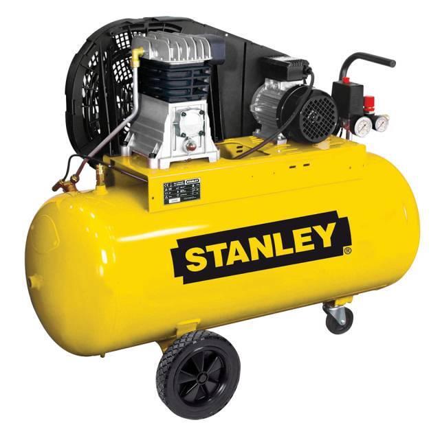 Olejový vzduchový kompresor dvouválcový, řemenový, 100 l, 400V - STANLEY B 345/10/100T