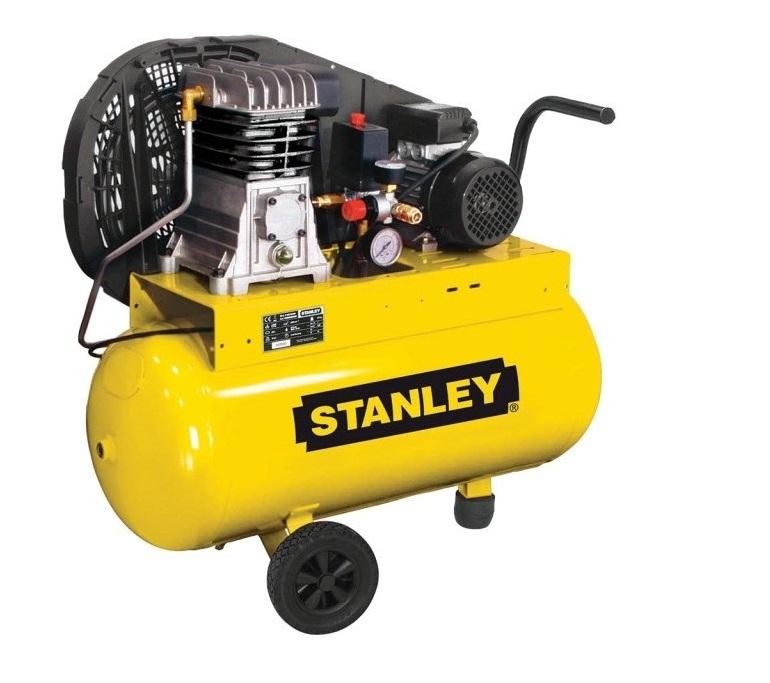 Olejový vzduchový kompresor dvouválcový, řemenový, 50 l - STANLEY B 251/10/50