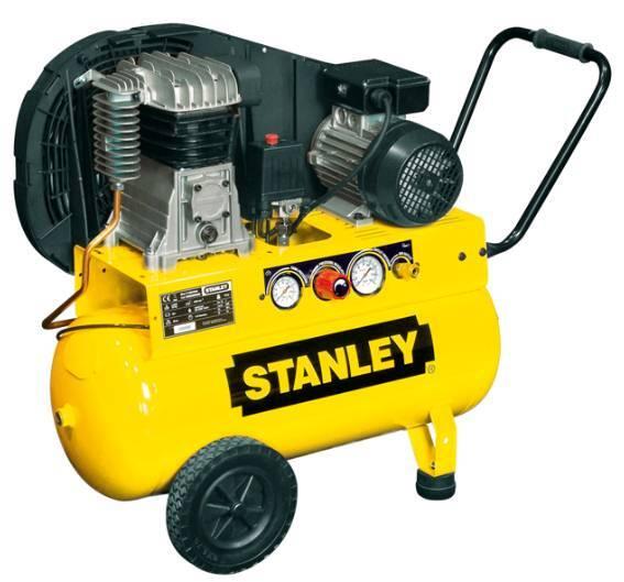 Olejový vzduchový kompresor dvouválcový, řemenový, 50 l - STANLEY B 255/10/50