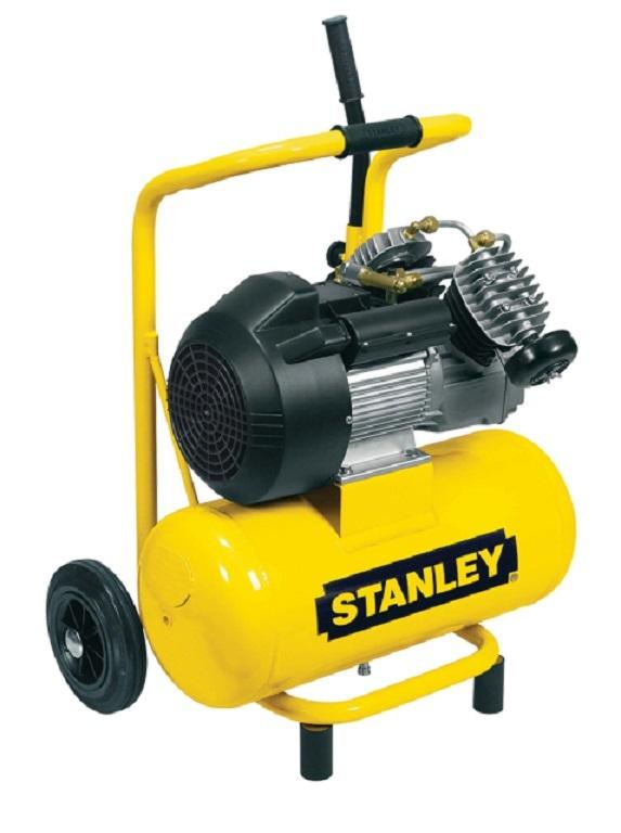 """Olejový vzduchový """"V"""" kompresor dvouválcový, kompakt, 24 l - STANLEY DV2 400/10/24P"""