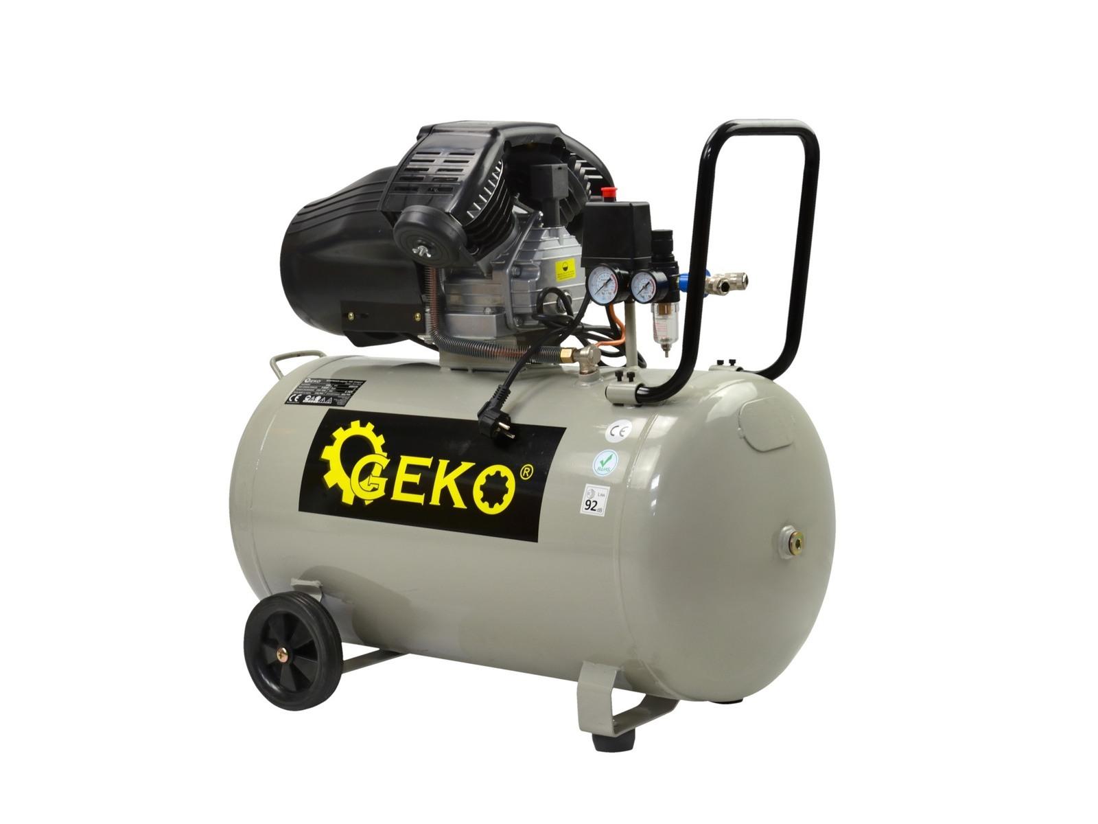 """Olejový vzduchový """"V"""" kompresor dvouválcový, 100 l, 230V"""