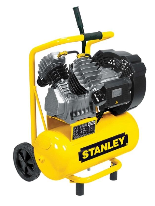 """Olejový vzduchový """"V"""" kompresor dvouválcový, kompakt, 24 l - STANLEY DV4 400/10/24P"""