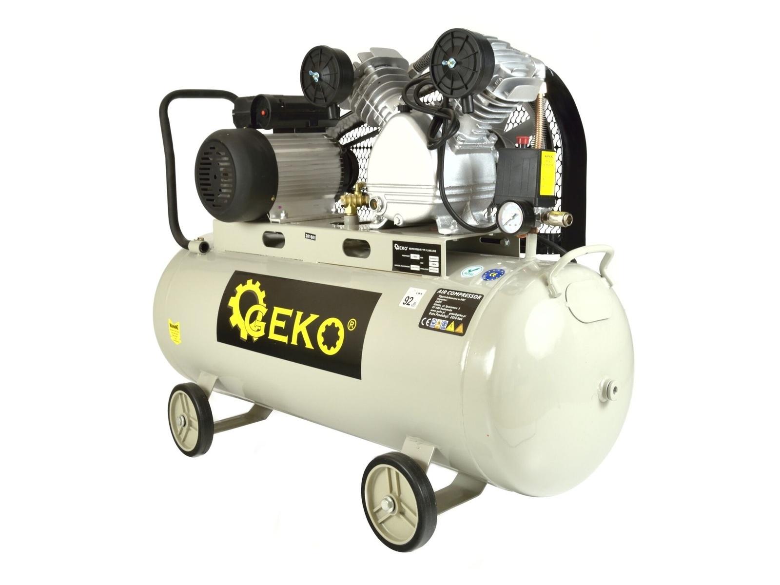 """Olejový vzduchový """"V"""" kompresor dvouválcový, řemenový, 100 l, 230V"""