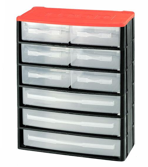 Box na nářadí 9 zásuvek, 330x170x410 mm, plast