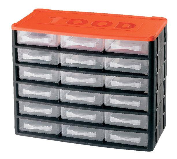 Box na nářadí 18 zásuvek, 330x170x260 mm, plast
