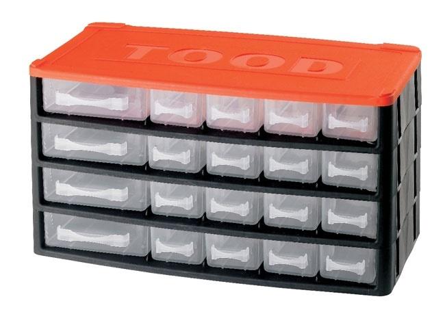 Box na nářadí 20 zásuvek, 330x170x180 mm, plast