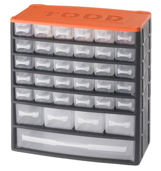Box na nářadí 35 zásuvek, 330x170x350 mm, plast