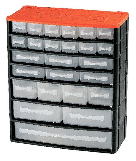 Box na nářadí 25 zásuvek, 330x160x380 mm, plast