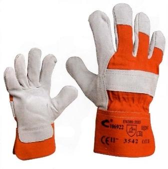 Pracovní rukavice, hovězí štípenka, velikost 11