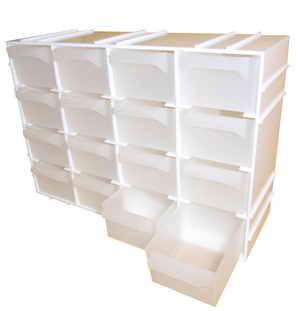 Box na nářadí 16 zásuvek, 225x72x155 mm, plast