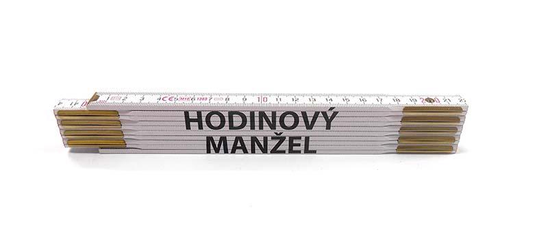 Skladací metr HODINOVÝ MANŽEL, 2 m