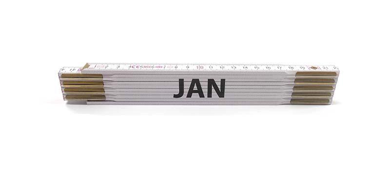 Skladací metr JAN, 2 m