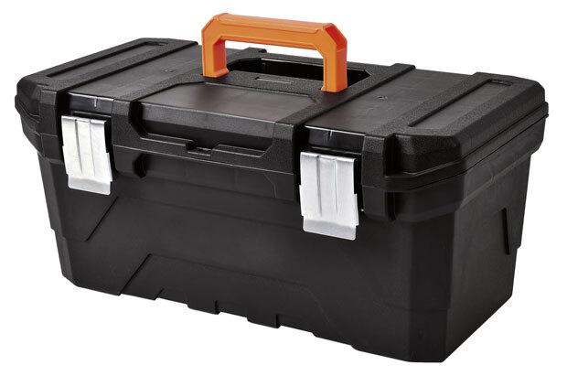 Kufr na nářadí 590x300x260 mm, plastový, kovové přezky