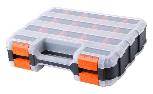 Organizér 320x260x80 mm, oboustranný, volitelné přihrádky, plast