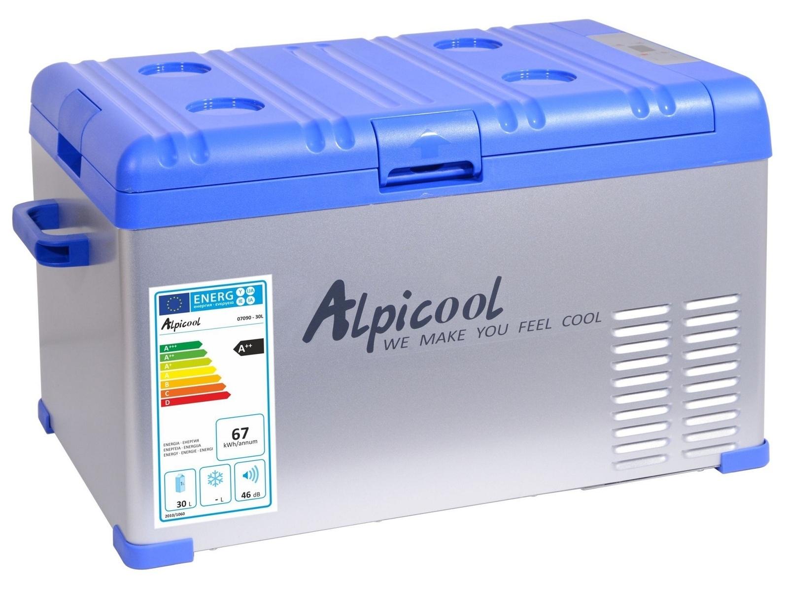 Chladící box do auta 230/24/12V BLUE, 30 litrů, -20 °C - COMPASS