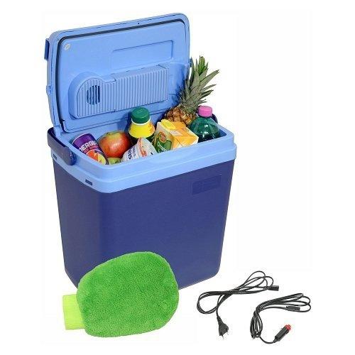 Chladící box do auta 220/12V BLUE, 25 litrů, displej s teplotou - COMPASS