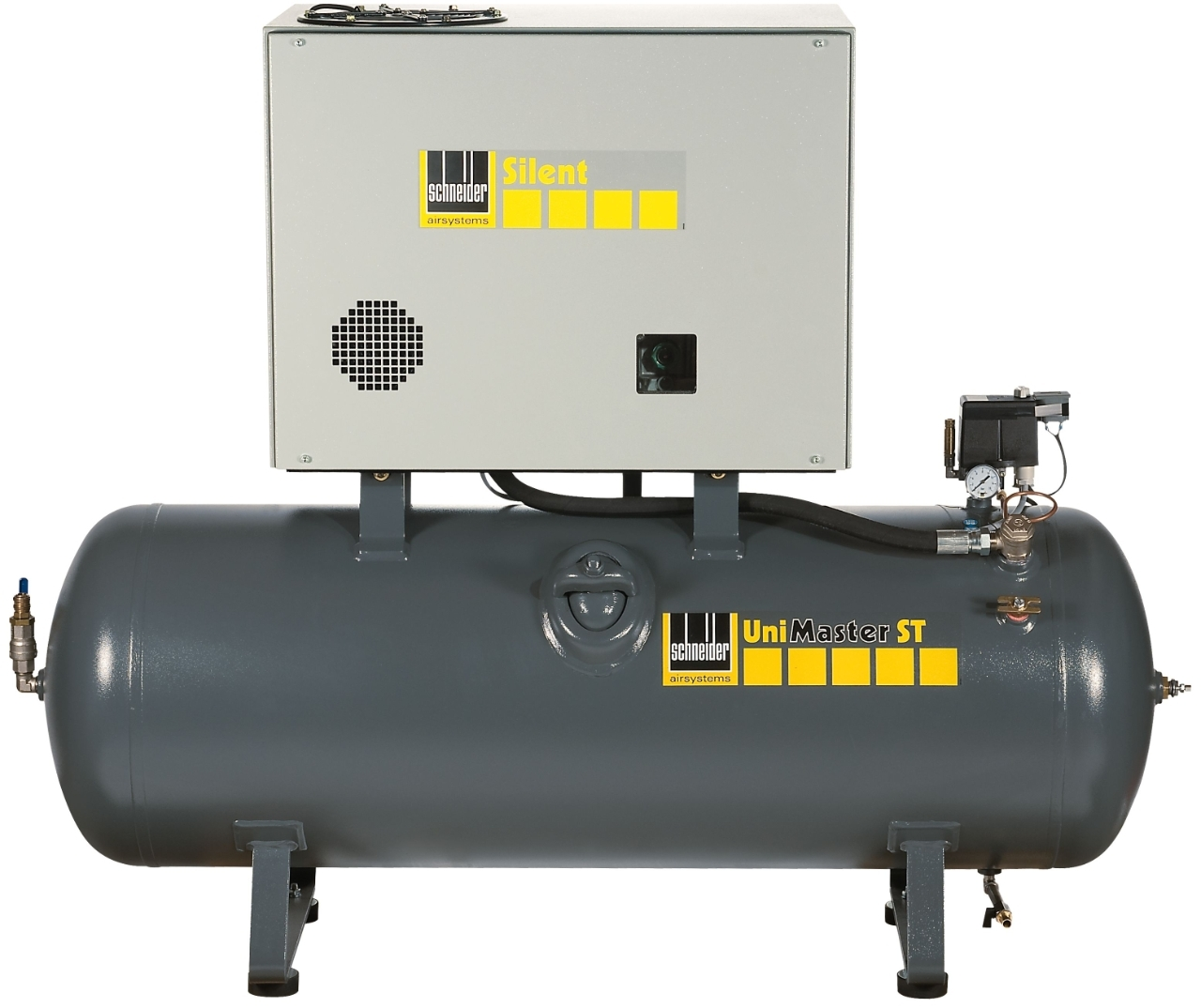 Kompresor stacionární 500 l 400 V, dvouválcový olejový - Schneider UNM STL 660-10-500