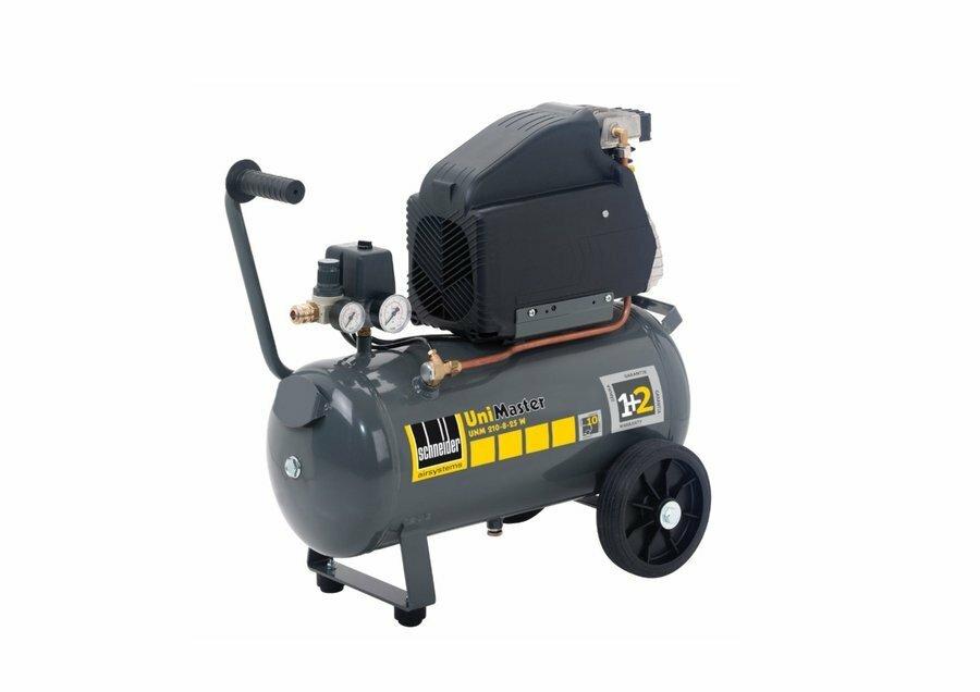 Vzduchový kompresor 24 l 230 V, bezolejový jednoválcový - Schneider UNM 210-8-25 W