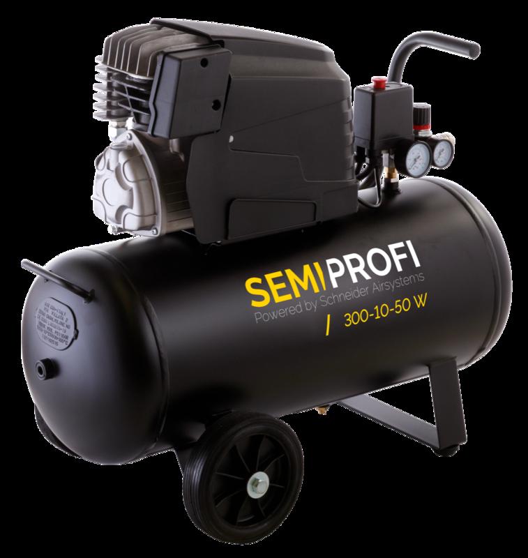 Vzduchový kompresor 50 l 230 V, jednoválcový - Schneider SEMI PROFI 300-10-50W