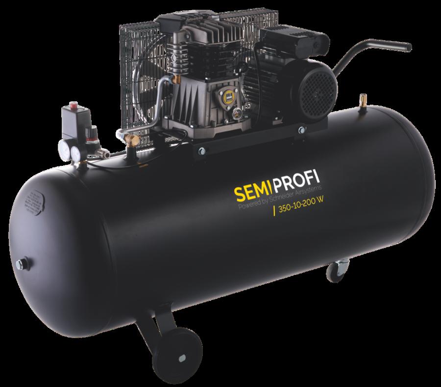Kompresor 200 l 230 V, olejový dvouválcový - Schneider SEMI PROFI 350-10-200W