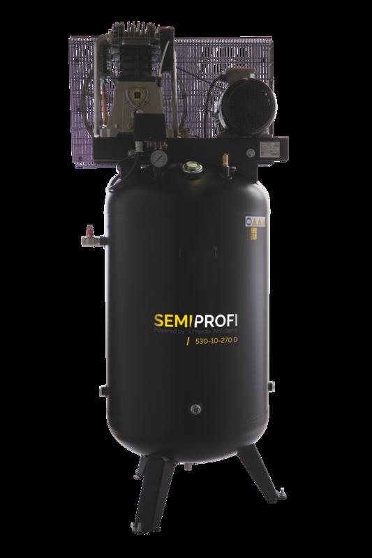 Kompresor stacionární 270 l 400 V, olejový dvouválcový - Schneider SEMI PROFI 530-10-270D