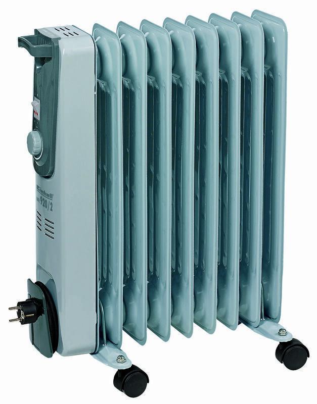 Olejový radiátor MR 920/2, elektrický 2000 W, pojízdný - Einhell Heating