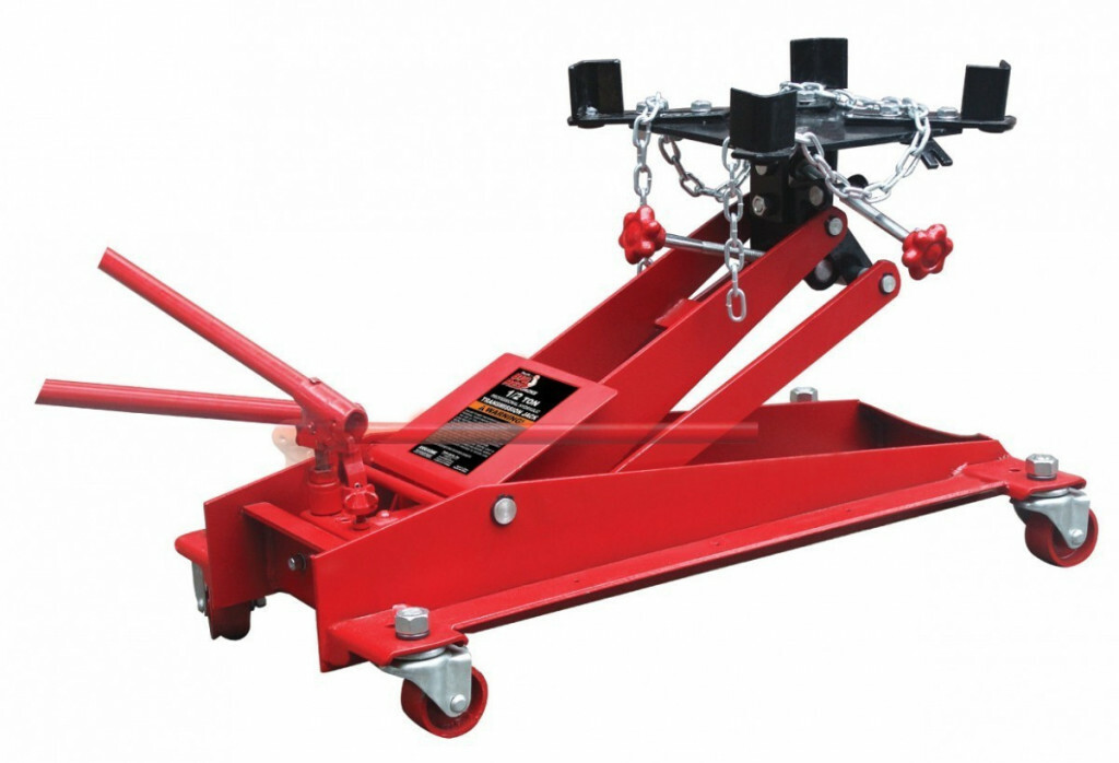 Hydraulický zvedák převodovky a motoru, nosnost 500 kg, pojízdný s uchycením - TW05001